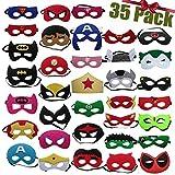 Superhero Masken 35 Pack Kinder Kinder Erwachsene Party Maskerade / Superhelden Maskerade Cosplay / Super Masken / Super Hero Cosplay Partei Augenmasken Filz Masken
