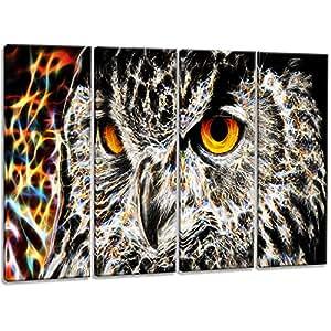 "Digital Art PT2420-271 ""A Real Hoot Owl"" Animal Wall Art Print, Large"