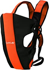 LuvLap Sunshine Baby Carrier (Black/Orange)