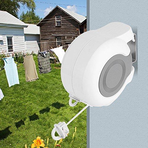 Zerone fil à linge, en ABS et PVC à double séchage ligne 13 m et longueur réglable pour lavage à l'ouvert