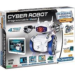 Idea Regalo - Clementoni Cyber Robot Scienza E Tecnologia Gioco Didattico Educativo Giocattolo 374, Multicolore, 8005125139415