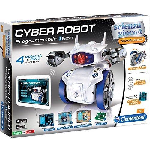 Clementoni Cyber Robot Scienza E Tecnologia Gioco Didattico Educativo Giocattolo 374,, 8005125139415