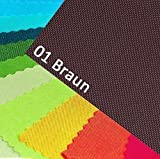 novely OXFORD 600D Farbe 01| BRAUN Polyester Stoff 1 lfm
