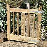 Gartentor aus Holz 90 cm Breit | robustes Holztor aus Kiefernholz kesseldruckimprägniert | inkl. Aufhängung und Verschluss
