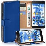 moex Huawei G7 | Hülle Blau mit Karten-Fach 360° Book Klapp-Hülle Handytasche Kunst-Leder Handyhülle für Huawei Ascend G7 Case Flip Cover Schutzhülle Tasche