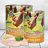Schecker Dogreform Fleischtopf-Menü mit 95% Huhn und 5% Reis 6 x 820 g glutenfrei für Figurbewußte Hunde und solche die ein paar Pfunde verlieren möchten/sollen äußerst leicht verdauliche Delikatesse