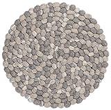 myfelt Hardy II Filzkugel-Tischset/Platzdeckchen, rund, Schurwolle, grau, Ø 36 cm