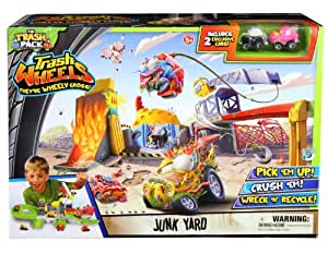 The Trash Pack - Trash Wheels - Junk Yard - Décharge + 2 Véhicules Miniatures (Import UK)