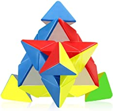 Storio High Speed Pyraminx Cube Stickerless Triangle Rubik's Cube