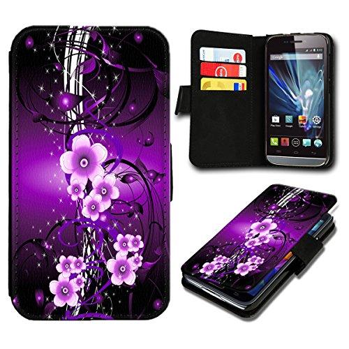 Book Style Wiko Fizz Premium PU-Leder Tasche Flip Brieftasche Handy Hülle mit Kartenfächer für Wiko Fizz - Design Flip SB297