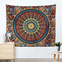India Mandala Pattern Flower Home Tapestry Wall Hanging Beach Towel Rectangle Multifunction Cloth, m006, 130 * 150cm