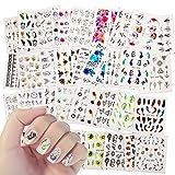 40pcs 3D nagelsticker selbstklebend, Mwoot Einhorn Nagelaufkleber Nail Art Sticker Nagel Abziehbilder für Mädchen Mitgebsel Kindergeburtstag geschenktüten DIY Nagel Kunst Dekoration