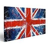 islandburner Bild Bilder auf Leinwand Gemalte Betonmauer mit Graffiti der britischen Flagge. Grunge Flagge von Großbritannien. Union Jack Verschiedene Formate ! Direkt vom Hersteller ! Bilder ! Wandbild Poster Leinwandbilder ! EQS