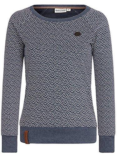 Naketano Female Sweatshirt Geist Der Weihnacht III indigo blue melange