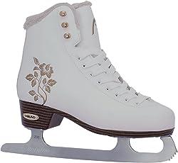 HEAD Eiskunstlauf Schlittschuhe Opal I Knöchelpolster I Damen Schlittschuhe mit Edelstahlkufe I Floral-Design I ideal für Einsteigerinnen - Weiß