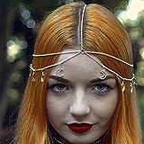 Yean cabeza cadena diadema para las mujeres y las niñas (Moon)