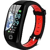 Tipmant Smartwatch, Relojes Inteligentes Mujer Hombre Niños Impermeable IP68 Pulsera Actividad Inteligente con Pulsómetro Pod