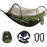 NATUREFUN Hamac de Voyage Ultra-léger Camping avec moustiquaire| 300 kg de capacité de Charge, Respirant, séchage Rapide en N
