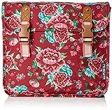 Basil Gepäckträgertasche Bloom Girls-Double Bag, Scarlet Red, 31 x 12 x 27 cm, 20 Liter, 17570