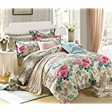 Ahmedabad Cotton Comfort 160 TC Cotton King Size Bedsheet with 2 Pillow Covers (9ft x 9ft)