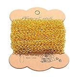 Cadena de hierro PandaHall, 10m, para manualidades de joyería, color dorado