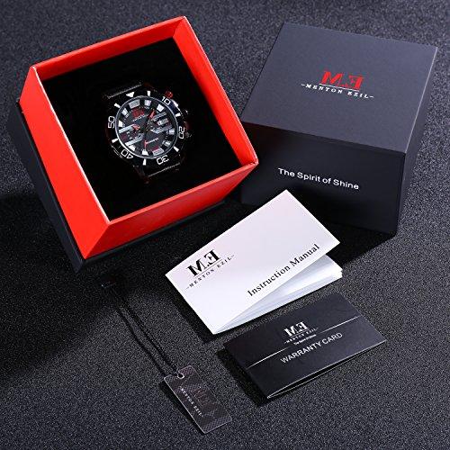 ❄Valentinstagschenk❄Elegante einzigartige Holz Uhren für Paare mit Roségold -Ton Edelstahl Analog Quarz braun Echtlederband wasserdicht Holz Uhr für sie und ihn - 3ER-SET