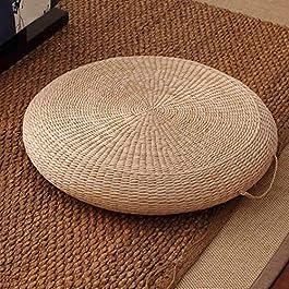 Chaises Meubles Rotin Tabouret Tatami Coussin De Sol Purement Naturel Épais Artisanat Respirant Paille Ronde Décor pour…