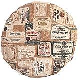 beties Rustika Kissenhülle rund ca. 50 cm Ø in großer Artikel-Auswahl für den gemütlich-rustikalen und zeitlos-modernen Einrichtungsstil Farbe (Camel-Burgund)