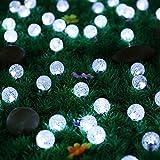 Light-up 30 LED 19.7ft LED Ball Globe String Lights Solar Powered For Outdoor Garden Patio Lawn Fence pergolas Christmas