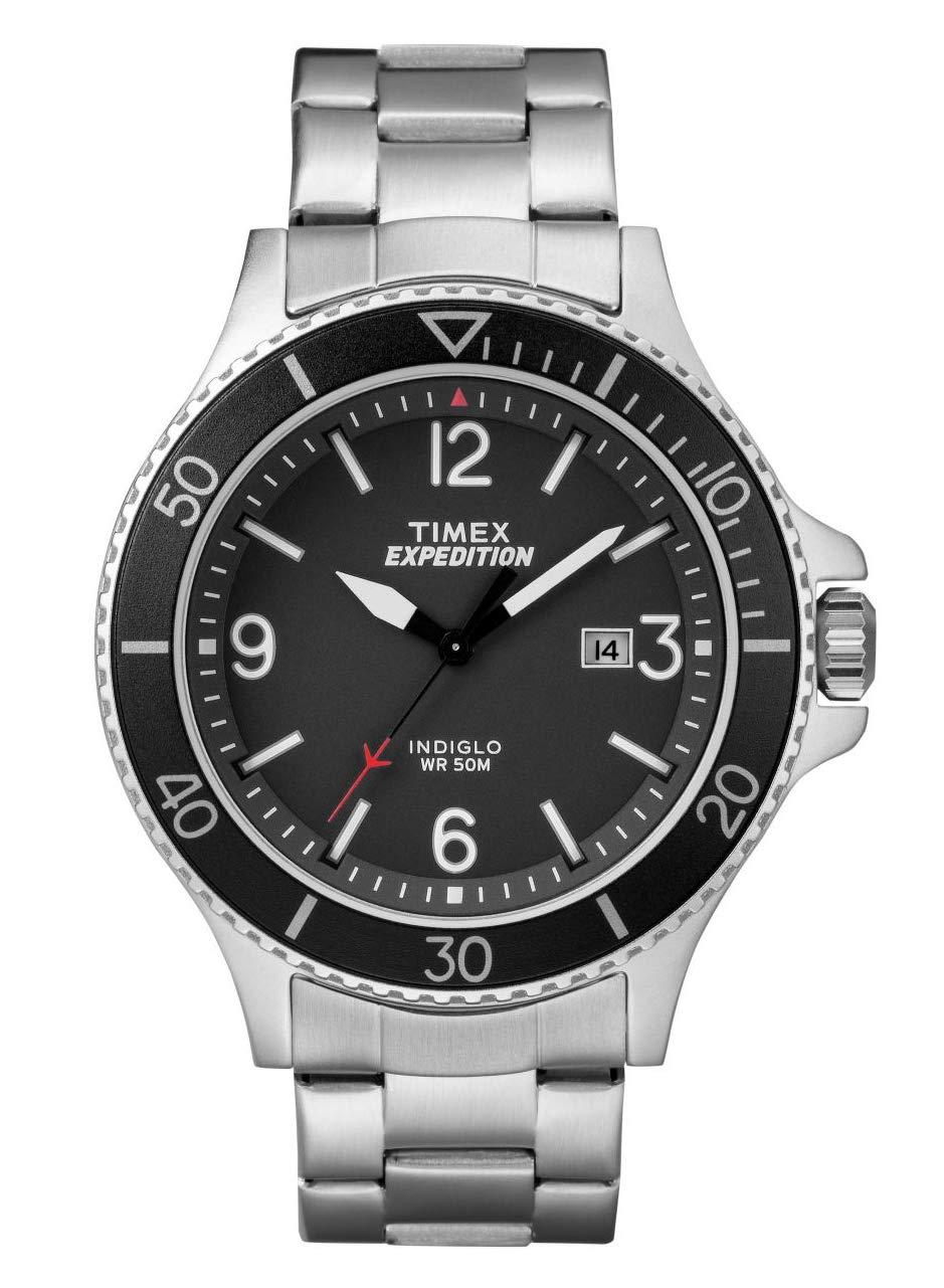 Timex TW4B10900 – Reloj analógico de pulsera para hombre, de cuarzo, esfera clásica y correa de acero inoxidable