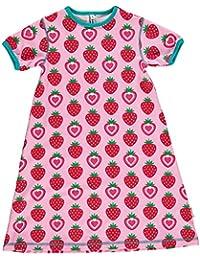 Maxomorra Girl Nachthemd Kurzarm STRAWBERRY
