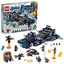 LEGO Marvel Helicarrier degli Avengers con Iron Man, Thor e Capitan Marvel, Serie Super Heroes, 76153