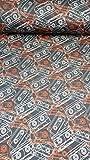 Hilco SweatBaumwollstoff schwarze Retro-Kassette