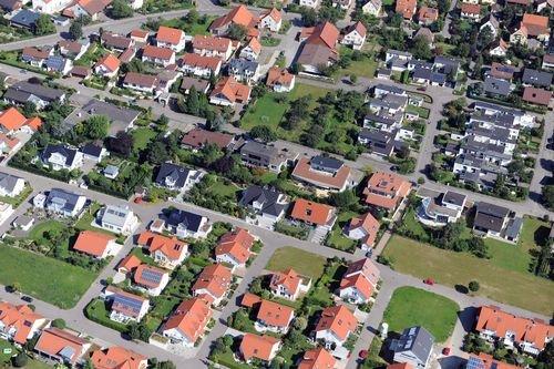 MF Matthias Friedel - Luftbildfotografie Luftbild von Mathilde-Planck-Straße in Hemmingen (Ludwigsburg), aufgenommen am 05.08.09 um 10:35 Uhr, Bildnummer: 5377-35, Auflösung: 6048x4032px = 24MP - Fotoabzug 50x75cm
