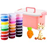 AM ANNA 24 pcs DIY Soft Fluffy Slime Scented Stress with receive a case Relief No Borax Sludge Cotton Mud Release Clay Toy Pl