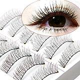 10 Paar Weiche Natürliche Querhandgemachte Wimpernmakeup Verlängerung falsche künstliche Wimpern Make Up Schwarz Eyelasches Wimpernverlängerung