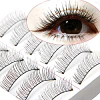 LianLe®10 pares de pestañas falsas,Multipack Lashes,Natural Multipack Pestañas