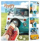Geburtstagskarte mit dem Wow Effekt Retro Bully besondere Glückwunschkarte zum Geburtstag Grußkarte schöne lustige edle Karte