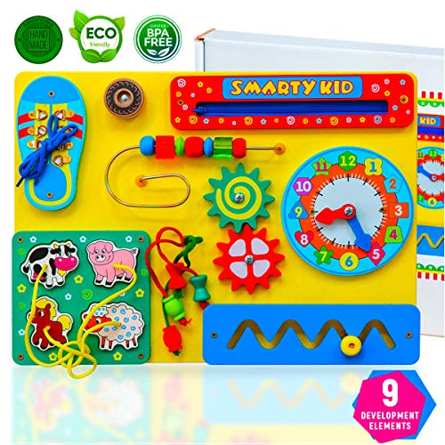 Smarty Kid Wooden Busy Board For...