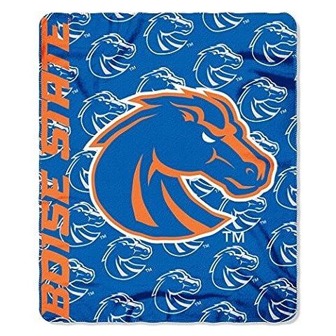 NCAA Boise State Broncos Mark Printed Fleece Throw Blanket, 50 x 60, Blue by Northwest