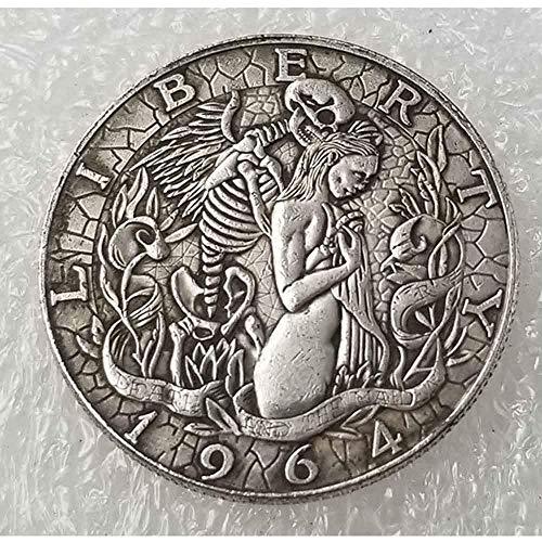 DDTing Best Morgan Silber-Dollars - Hobo Nickel Münze - 1964 Münze, Silber-Dollar, USA Old Original Morgan Dollar GoodService -