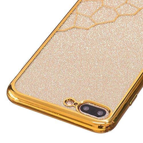 Wkae Galvanische Kleine Würfel TPU Schutzhülle für iPhone 7 Plus ( Color : Rose gold ) Gold