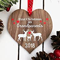 New Grandparents First Grandparents Christmas Christmas gift Grandparent gift Personalised Christmas decoration BAUBLE