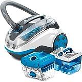 Thomas Hybrid LED PARQUET 786551, Aspirateur cyclonique et hygiénique, Blanc/Bleu, 1700 W