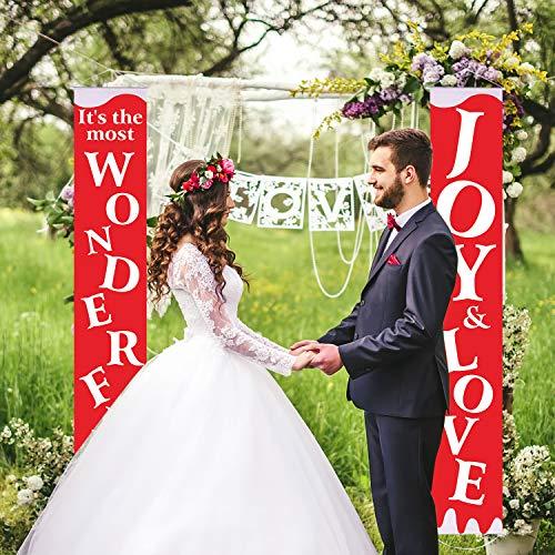 Blulu set di decorazioni matrimonio bandiera da giardino decorativa amore portico di nozze bandiera della casa di benvenuto cuore per interno/esterno matrimonio anniversario nuziale fornitura
