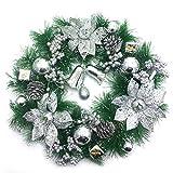 VHVCX Ghirlande di Natale, Decorazioni di Natale, 30cm Ghirlande di Natale, ghirlande di Natale, addobbi Natalizi, Ghirlande di Natale, Uno