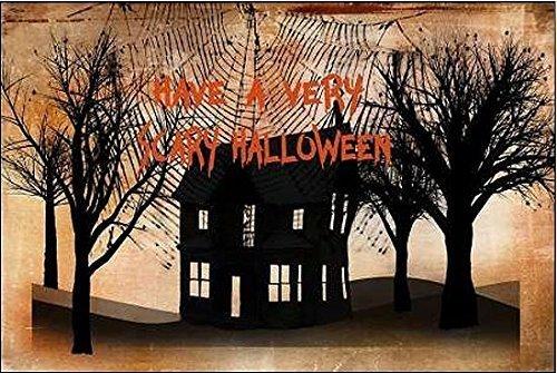 mona Murdock: Very Scary Halloween Leinwandbild Fledermaus Fantasy Gothic Steampunk (50x75) (Scary Gothic Bilder)