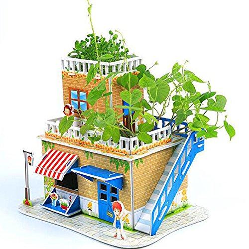 Muss Liebe Pflanzen (HAHAone puzzle 3d 3d puzzle bauernhof puppenhaus bausteine bausatz kinderpuzzle 3d haus 3d architekt pädagogisches spielzeug puppen spielzeug spielzeug haus haus architektur haus 3d bausätze für erwachsene (3d planting puzzle(Sweet Home)))