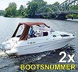 Bootskennzeichen - Bootsnummern // zwei Stück // SCHWARZ