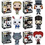 Alice Through the Looking Glass Alice Kingsleigh, Mad Hatter, Nivins McTwisp, Time, Chessur, Iracebeth Pop! Vinyl Figures Set of 6 by Alice Through the Looking Glass